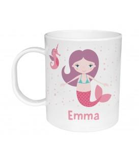Taza de Plástico Personalizada Sirena