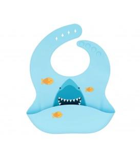 Babero Silicona Tiburón