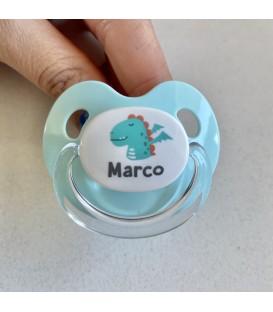 Chupete Retro Aqua Dragón MARCO