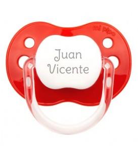 Chupete New Classic Personalizado Rojo