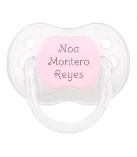 Chupete New Classic Personalizado Cristal Rosa