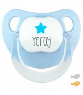 Chupete Baby Deco Estrella Azul