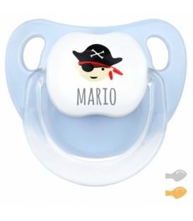 Chupete Baby Deco Pirata Azul