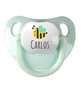 Baby Decorado Personalizado Verde Manzana Abeja