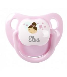 Baby Decorado Personalizado Rosa Pastel Hada