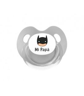 Chupete Retro Gris Héroe Mi Papá