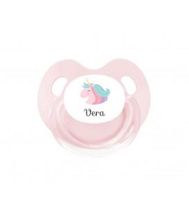 Chupete Personalizado Retro Rosa Unicornio
