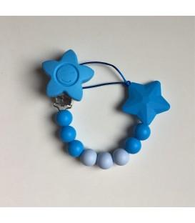 Chupetero de silicona Azul