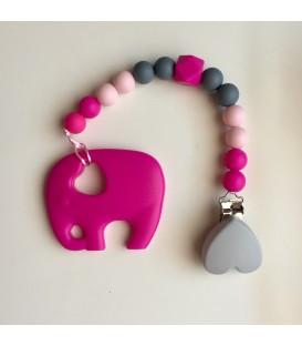 Pack gris-elefante fucsia