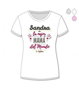 Camiseta Personalizada La mejor mamá del mundo