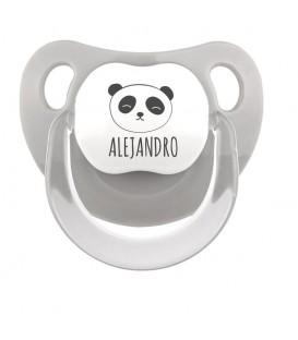 Chupete Baby Personalizado Oso Panda + nombre