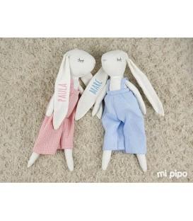 Muñeco My Rabbit personalizado Rosa y azul