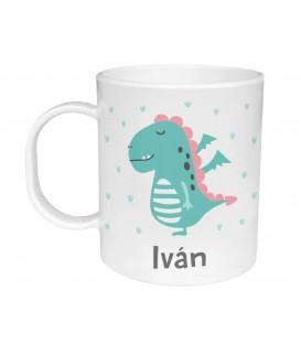 Taza de Plástico Personalizada Dragón