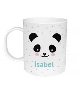 Taza Plástico Personalizada Oso Panda