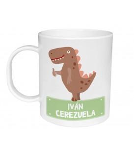 Taza Plástico Personalizada Dinosaurio
