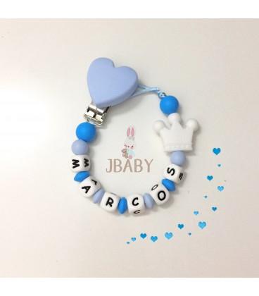 Chupetero Love azul